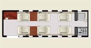 Private Jet Floor Plans Lear Jet 40