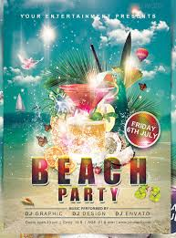 20 amazing psd beach party flyer templates u0026 designs free
