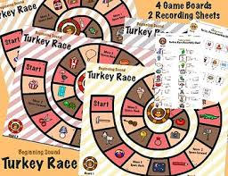 thanksgiving beginning sounds turkey race by berg s bugs tpt