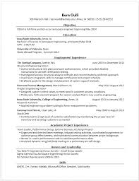 Sample Resume For College Internship by Example Resumes U2022 Engineering Career Services U2022 Iowa State University