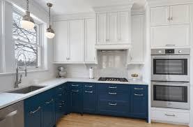 dual tone navy and white cabinets passion pinterest white