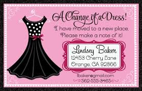 change of a dress moving announcement di 6304 harrison