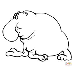 funny elephant seal coloring page free printable coloring pages