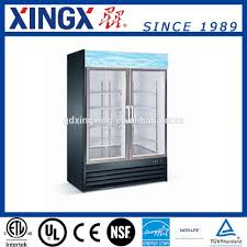 commercial glass door refrigerator for store and supermarket