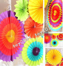 2017 paper fan decorations paper fan wholesale tissue