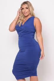 blue bodycon dress plus size cowl neck bodycon dress royal blue curvy sense