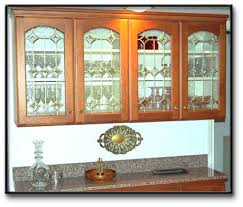 Kitchen Cabinets Glass Inserts Stained Glass Kitchen Cabinet Doors At Hongdahs New Home Design