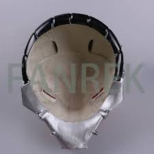 the dark knight rises mask cosplay pvc red halloween helmet new