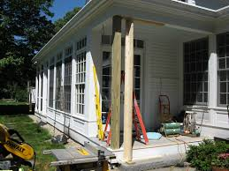 wood porch posts replacing a post concord carpenter 10 best 25