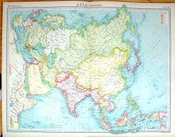 Nanking China Map by Old Print Antique And Victorian Art Prints Paintings World Maps