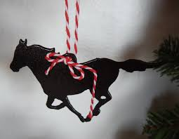 christmas tree ornament horse horse gift tag western christmas
