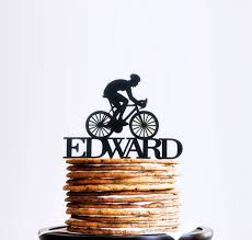bicycle cake topper road bike cake topper cyclist cyclist birthday cake