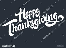 happy thanksgiving hand drawn lettering design stock vector