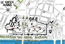 map of le mans a map of le mans town