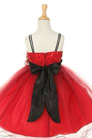 red and black sequin kids dress