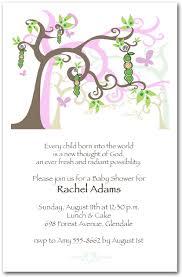 baby shower tree girl peapod tree baby shower invitations