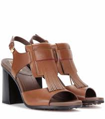 brown smart leather sandals tod u0027s women u0027s shoes um578l60l