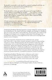 transforming postliberal theology george lindbeck