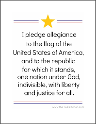 the pledge of allegiance free printables for home and classroom