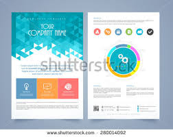 Two Page Brochure Template creative two page business flyer template stock vector 280014092