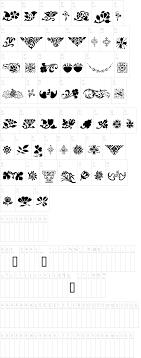 printers ornaments one font dafont
