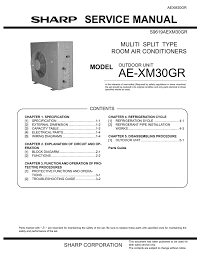 sharp air conditioning service manuals air conditioner databases