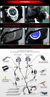 kawasaki concours 14 1400gtr zg1400 led angel eye hid projector