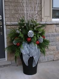 Exterior Christmas Decorations Pinterest by Christmas Planter Decor Decoration Planter Christmas Exterior