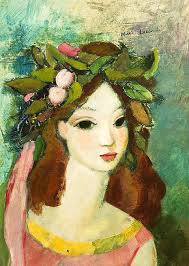 imagenes figurativas pdf portrait of a young girl with flowers in her hair counted cross