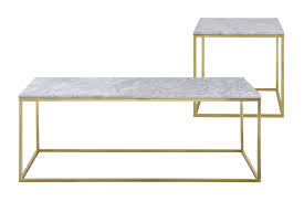 Marble Coffee Table Como White Marble Coffee Side Table Set Temple Webster