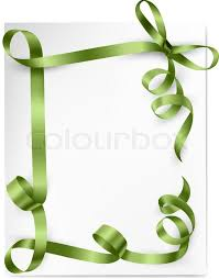green gift bow card with green gift bows with green ribbons stock vector colourbox