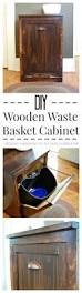 diy wooden wastebasket cabinet kitchens house and woods
