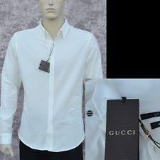 gucci solid dress shirts for men ebay