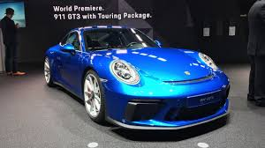 blue porsche blue porsche 911 gt3 touring package looks stunning in frankfurt