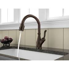 delta bronze kitchen faucet delta 9959czdst trinsic single handle