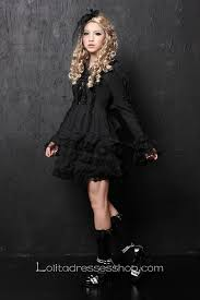 cheap black lace doll collar long sleeve short lace trim gothic