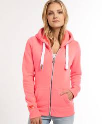 extremely inexpensive superdry hoodie orange pink label zip in