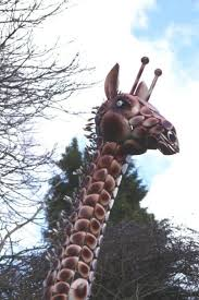 large and metal painted giraffe sculpture garden sculptures