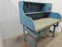 vintage industrial heavy duty workbench desk butcher block table vintage industrial heavy duty workbench desk butcher block table cast iron legs