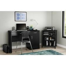 computer and printer desk black computer desk with keyboard tray and printer stand axess