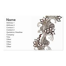 mehndi card mehndi business card templates bizcardstudio