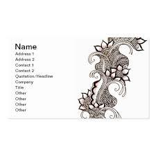 mehndi card mehndi business card templates bizcardstudio