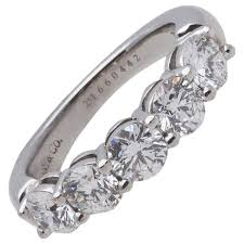 tiffany stone rings images Round cut five stone diamond ring in platinum pd364pl purely five jpeg