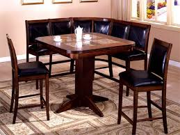 Kitchen Table With Booth Seating by Breakfast Nook Tables Walnut Wood Corner Breakfast Nook Set Full