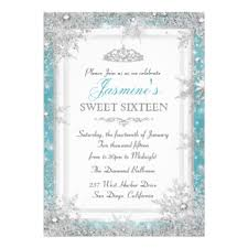winter sweet 16 invitations announcements zazzle