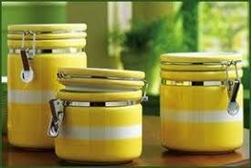 yellow kitchen canisters yellow canister set foter