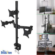 triple monitor stand desk mount computer pc 3 lcd screen arm