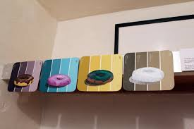 donuts sereis u201d acrylic on paint color swatch by cory