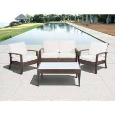 Outdoor Lifestyle Patio Furniture Brown Atlantic Contemporary Lifestyle Patio Conversation Sets