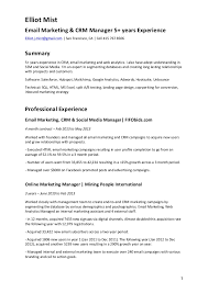 Two Years Experience Resume Cv Email Marketing U0026 Crm